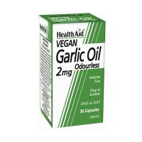 Health Aid Garlic Oil 2mg Vegan 30 Κάψουλες