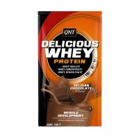 QNT Delicious Whey Protein Powder Για Μυϊκή Ανάπτυξη Με Γεύση Belgian Chocolate 20g