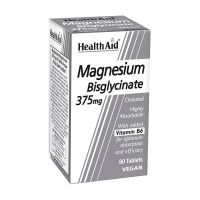 Health Aid Bisglycinate Magnesium 375mg Vegan 60 Ταμπλέτες